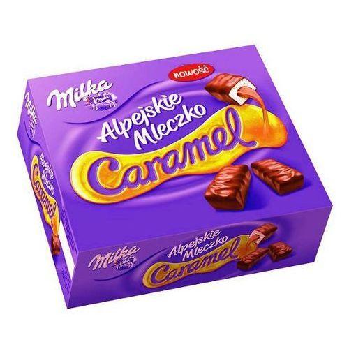 Alpejskie Mleczko Caramel Pianka o smaku waniliowym z nadzieniem karmelowym Milka 350 g (7622210068071)