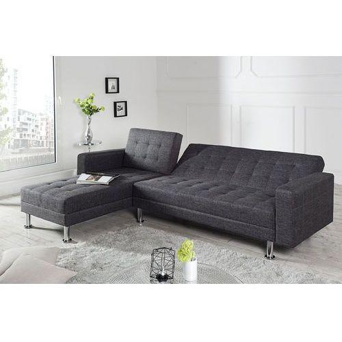 Sofa narożna confort szara (z funkcją spania) marki Interior