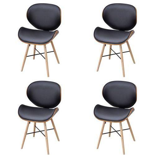 krzesła jadalniane z drewnianą ramą x4 marki Vidaxl