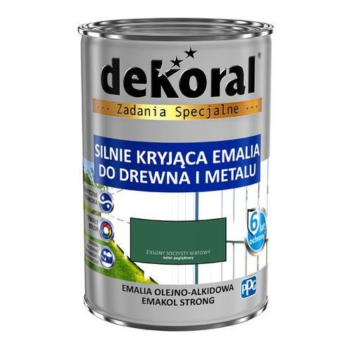 Emalia Dekoral Emakol Strong zielony soczysty mat 0,9 l (5904000824893)