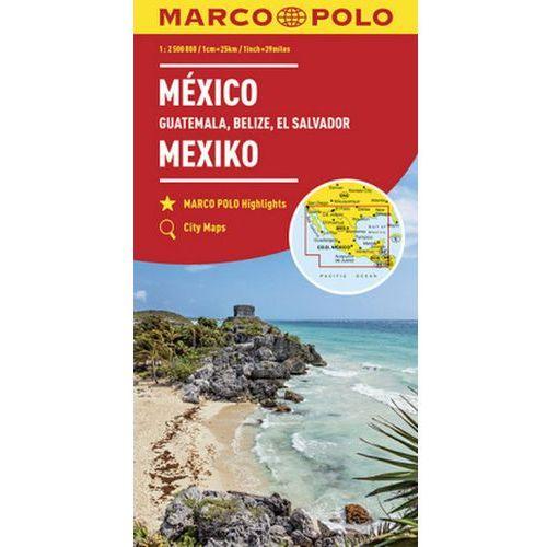 MARCO POLO Kontinentalkarte Mexiko, Guatemala, Belize, El Salvador 1: 2 500 000 (9783829739351)