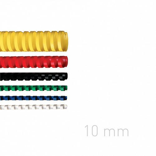Grzbiety plastikowe O.COMB 10mm żółte 100szt./op. OPUS