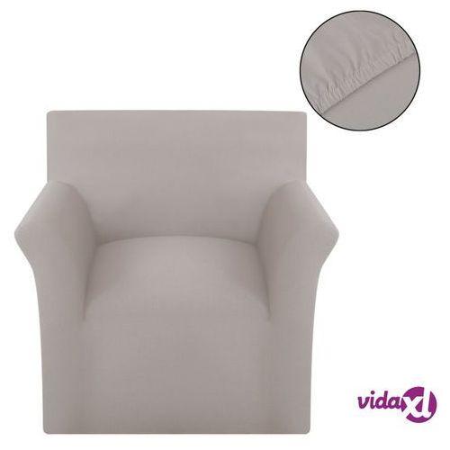 Vidaxl elastyczny pokrowiec na fotel, z dżerseju, beżowy (8718475956617)