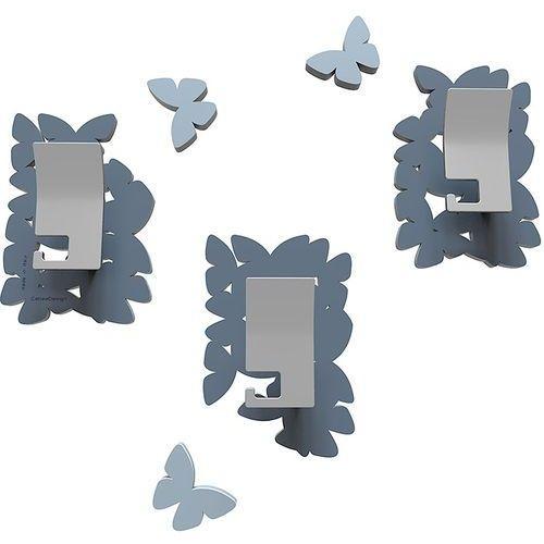 Wieszaki ścienne dekoracyjne butterflies niebieskie (50-13-4-44) marki Calleadesign