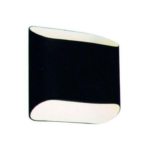 Azzardo Kinkiet lampa ścienna pancake mb329-2bk szklana oprawa czarna (1000000102215)