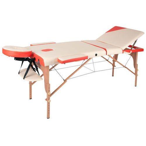 Insportline Łóżko stół do masażu japane, biało-pomarańczowy