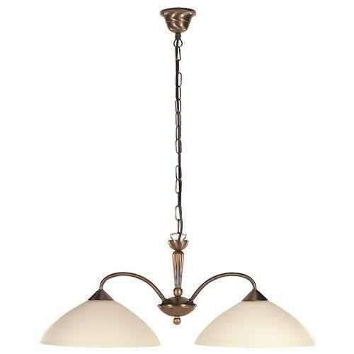 Lampa wisząca Rabalux Regina 2x60W E27 brąz/kremowy 8177, 8177