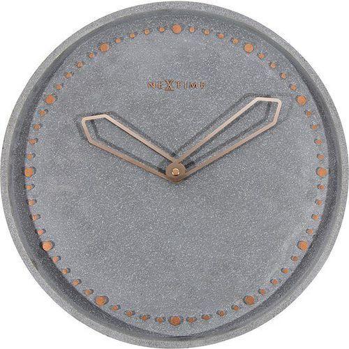 Zegar ścienny cross szary marki Nextime