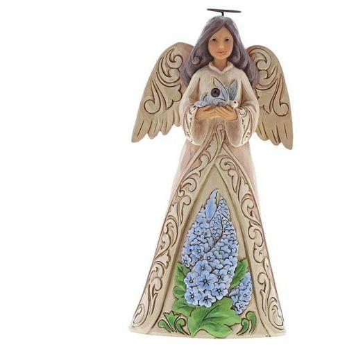 Jim shore Anioł lipiec patron urodzonych w lipcu monthly angel figurine july angel 6001568 , pamiątka narodzin, chrztu figurka dewocjonalia