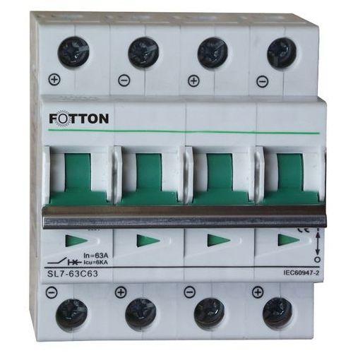 """Centropol """"fotton"""" Bezpiecznik - wyłącznik nadprądowy fotton sl7 4p 63a 800v dc"""