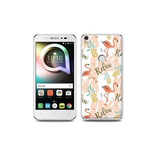Alcatel shine lite - etui na telefon fantastic case - różowe flamingi marki Etuo fantastic case