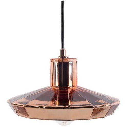 Lampa wisząca ze szkła w kolorze miedzianym AMUR (7105271323872)
