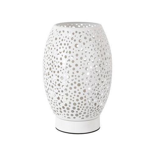 Rabalux Stojąca lampa stołowa gerda 5913 metalowa lampka biurkowa nocna ażurowa biała (5998250359137)
