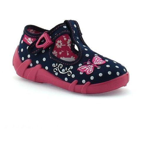 Kapcie dla dzieci RenBut 13-102_0102 - Różowy ||Granatowy, kolor różowy