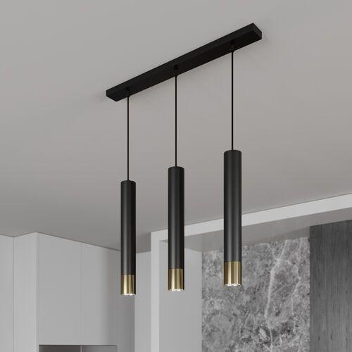 Luminex Nest 1566 lampa wisząca zwis 3x8W GU10 złoty czarny
