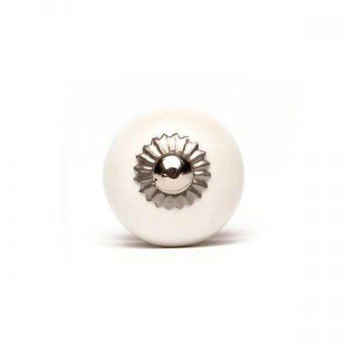 Gałka do mebli kula biała (mała) marki Regałka