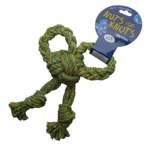 Gryzak kokarda ze sznura dla psa w rozmiarze s marki Nuts for knots