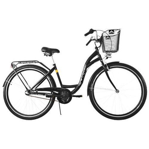 Dawstar Rower DAWSTAR Citybike S3B Czarny z koszykiem stalowym