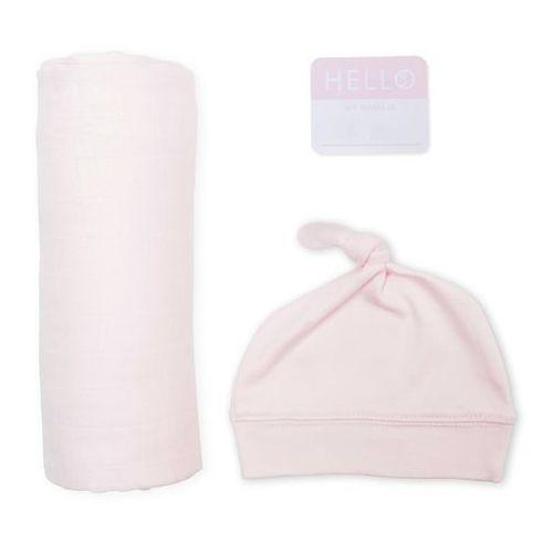 Lulujo zestaw kocyk + czapka pink