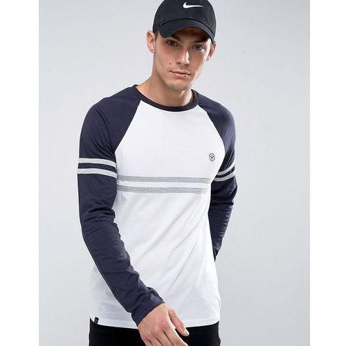 Le Breve Raglan Cut and Sew Long Sleeve Top - White, kolor biały