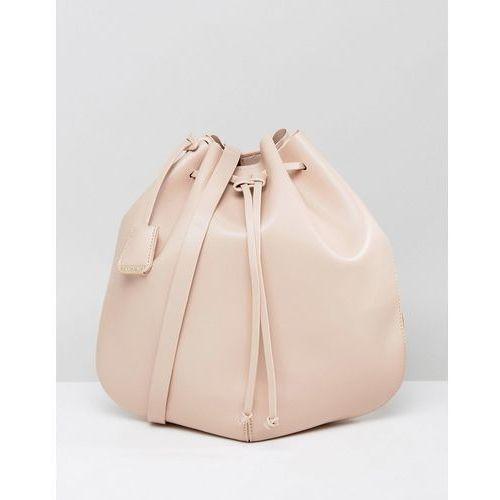 Glamorous Blush Drawstring Duffle Shoulder Bag - Beige