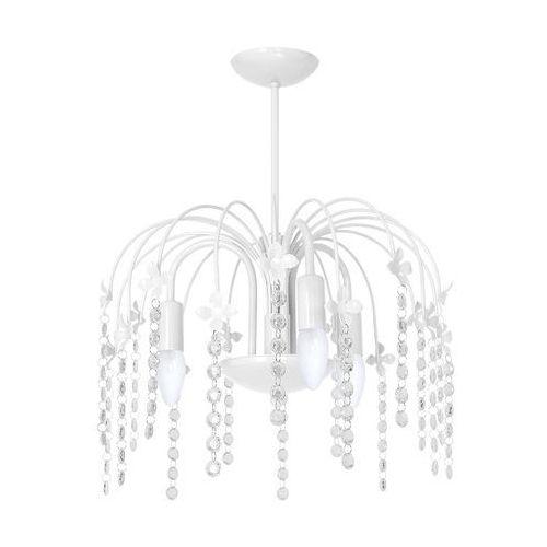 Plafon LAMPA sufitowa LAURA MLP 1136 Milagro dziecięca OPRAWA z kryształkami crystal biała