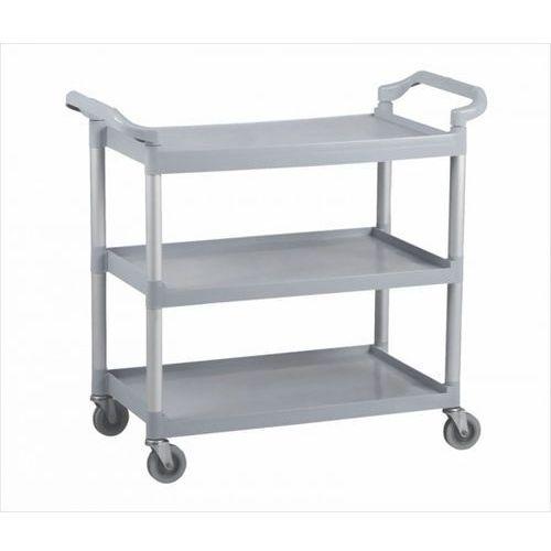Wózek półkowy do sprzątania, aluminium/plastik marki B2b partner