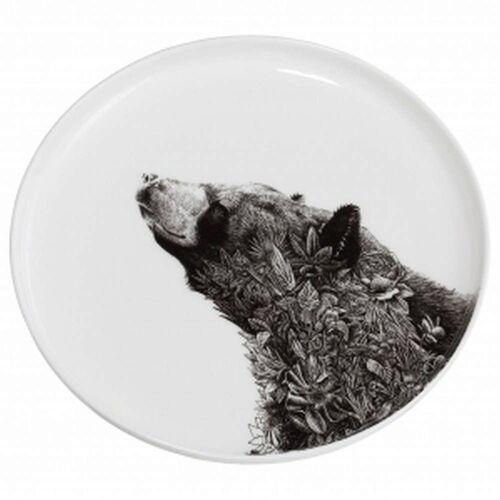 Maxwell & williams - marini ferlazzo - talerz, czarny niedźwiedź azjatycki