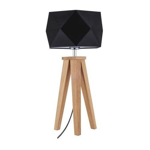 Stojąca lampa stołowa finja 6835174 spotlight geometryczna lampka abażurowa na drewnianym trójnogu drewno czarna marki Spot light