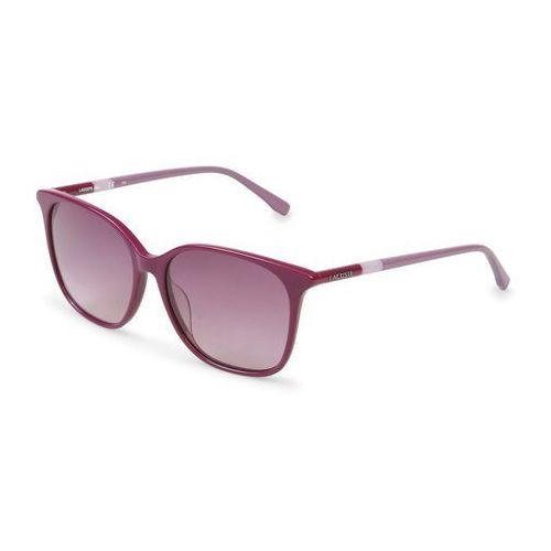 Okulary przeciwsłoneczne damskie l787s fioletowe marki Lacoste
