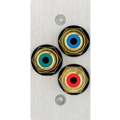 Inakustik Audio przejściówka, adapter  00980085036 980085036, [3x złącze żeńskie cinch - 3x do lutowania], stali szlachetnej, wykonanie złącza: proste, miedź