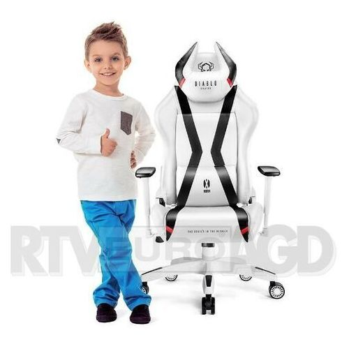 Diablo chairs Fotel x-horn 2.0 kids biało-czarny (5902560337877)