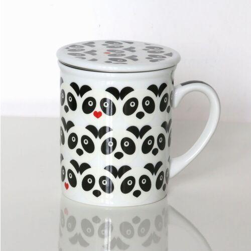 Cup&you cup and you Kubek panda love z zaparzaczem i pokrywką – prezent upominek dla zakochanych walentynki