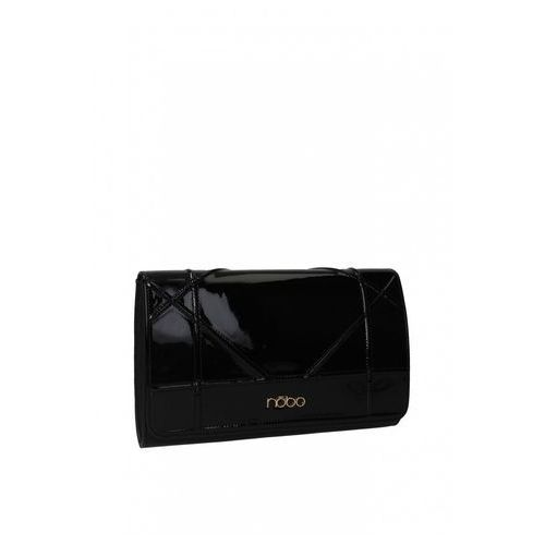 Czarna, lakierowana kopertówka - Nobo, kolor czarny