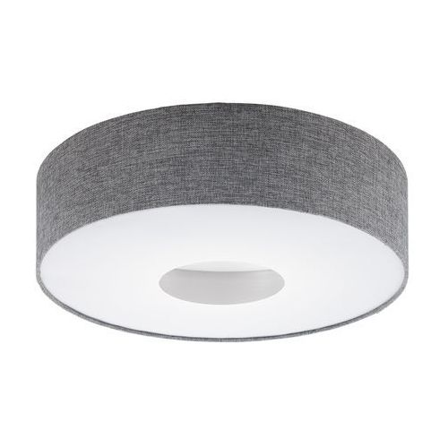 Plafon romao 95346 lampa oprawa sufitowa z abażurem 1x24w led szara marki Eglo