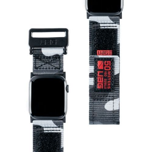 Urban armor gear uag active strap materiałowy pasek do apple watch 44 mm / 42 mm (midnight)