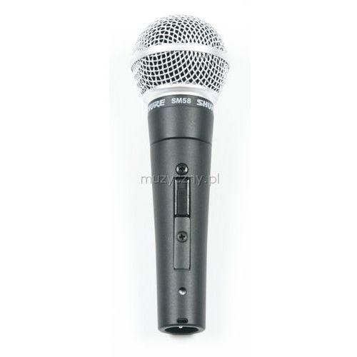 sm 58 se mikrofon dynamiczny z wyłącznikiem marki Shure