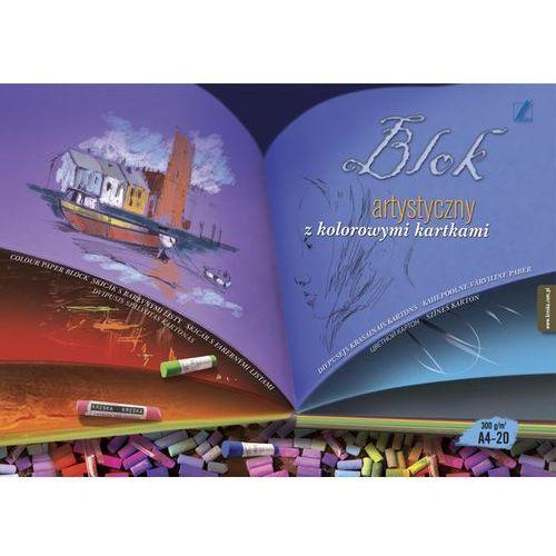 Blok artystyczny Kreska A4/20k. 300g kolorowy