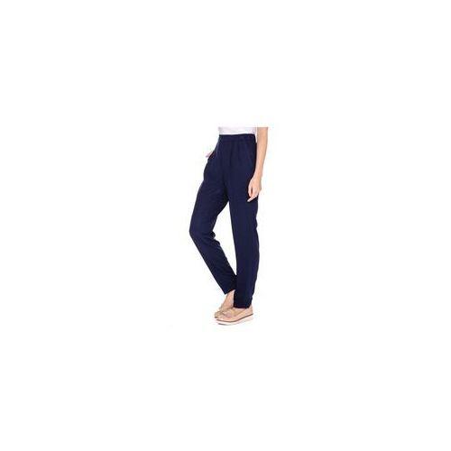 Luźne spodnie w kolorze granatowym - Bialcon, kolor niebieski
