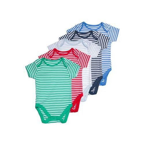 mothercare BUGS STRIPE 5 PACK Body brights multicolor