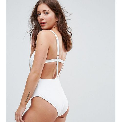 Wolf & Whistle Strappy Back Swimsuit DD - G Cup - White