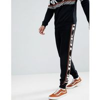 Asos knitted co-ord joggers with side text design - black, Asos design, XS-XXL
