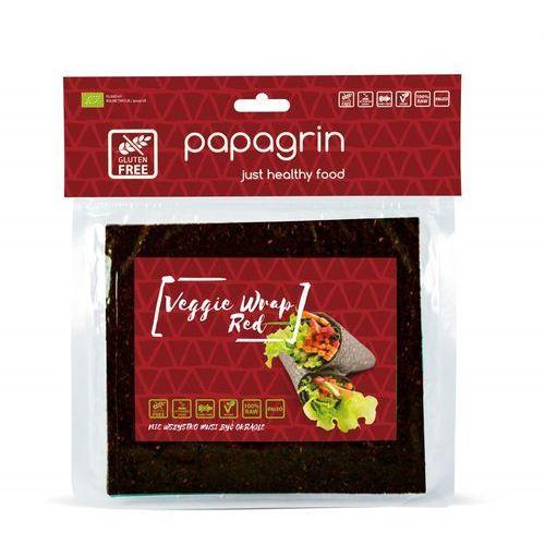 Papagrin (przekąski raw) Tortilla wraps warzywna czerwona bezglutenowa bio 125 g - papagrin