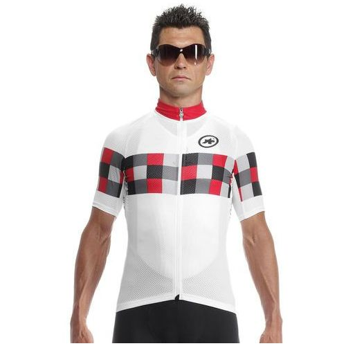 Assos Koszulka z krótkim rękawem ss.grandprix evo8 biały-czerwony / rozmiar: xl