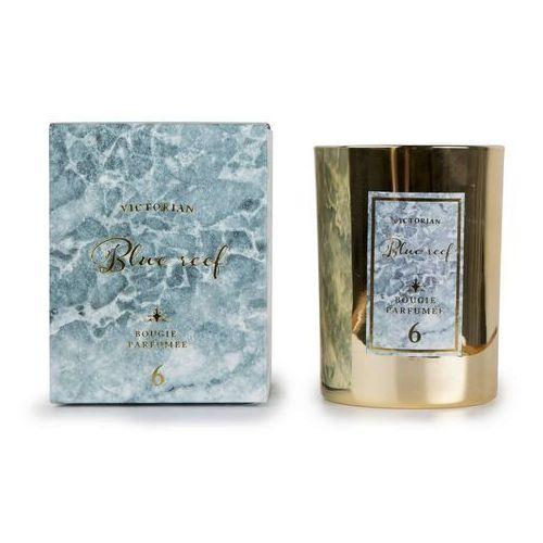 Victorian - marble - świeca zapachowa - blue reef: ananas i kwiat lotosu (7332738078017)