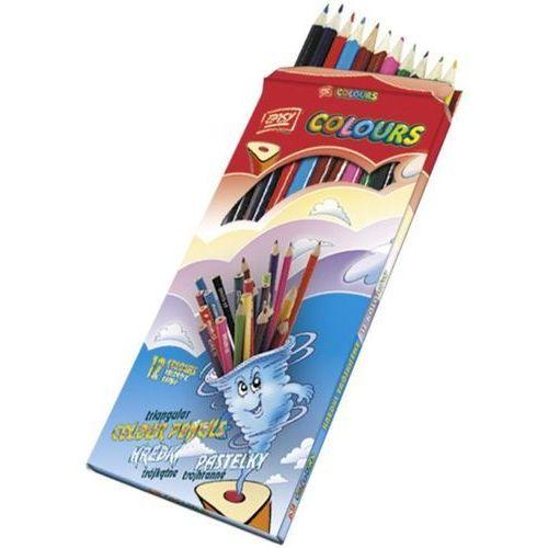 Easy stationery Easy, kredki drewniane, trójkątne, 12 kolorów