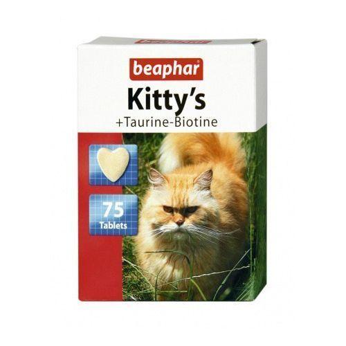 KITTY'S TAUR.+BIOT. 75szt. - tabletki witaminowe z tauryną i biotyną dla kotów