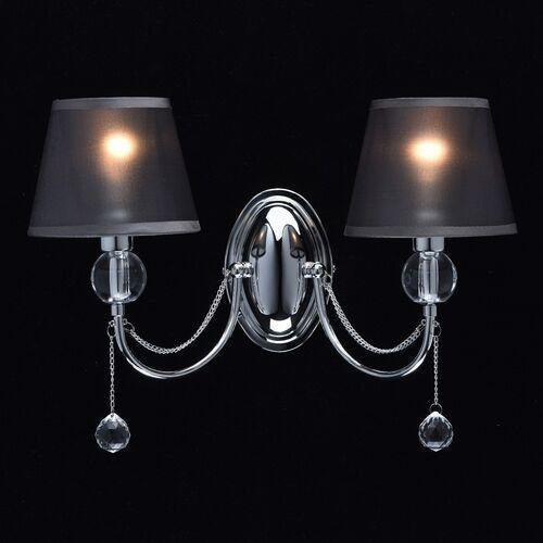 Mw-light Elegancki 2-ramienny kinkiet, chromowany, szare abażury elegance (684021302)