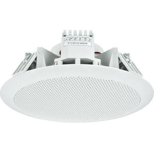 Głośnik sufitowy PA do zabudowy Monacor EDL-158, 101 dB, 50 - 16 000 Hz, 100 V, Kolor: biały, 1 szt.