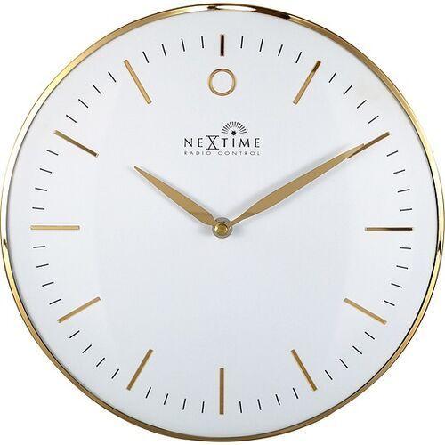 Zegar ścienny sterowany radiowo glamour small biały (8717713027287)